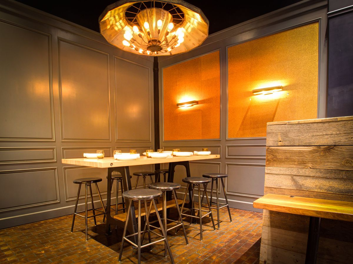 The semi-private dining area at International Smoke