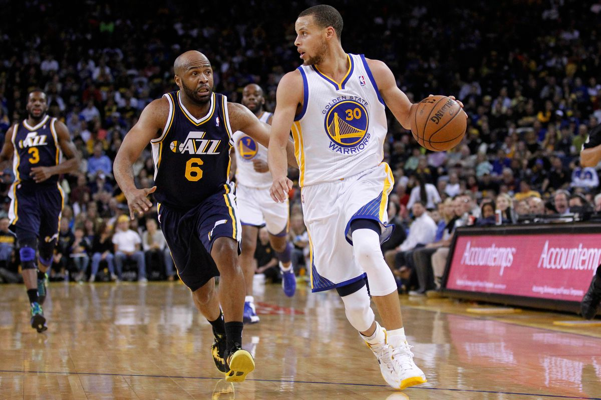 The Warriors look to run the Jazz out of the building to go undefeated on the three game home-stand.
