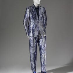 """""""I only lent my Alexander McQueen because I am just not ready to part with them entirely. I love a bold suit and this one doesn't disappoint. Plus, the shoes were designed by my dear friend, Max Kibardin."""""""