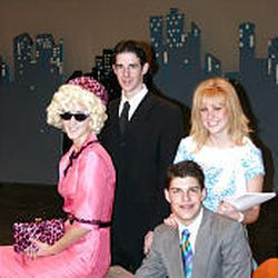 """Dru Murray, left, Issac Lauritzen, Katie Angerbauer and Landon Welch will perform in """"How to Succeed in Business Without Really Trying."""""""