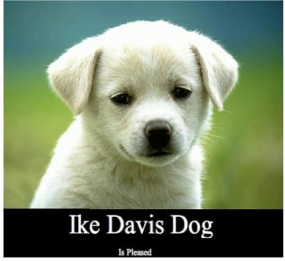 Ike Davis Dog