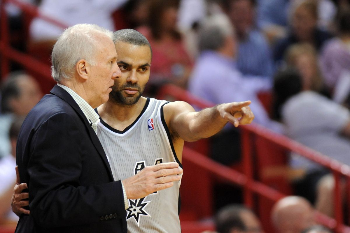 """""""Out there, Pop. On the court again. Please?"""""""