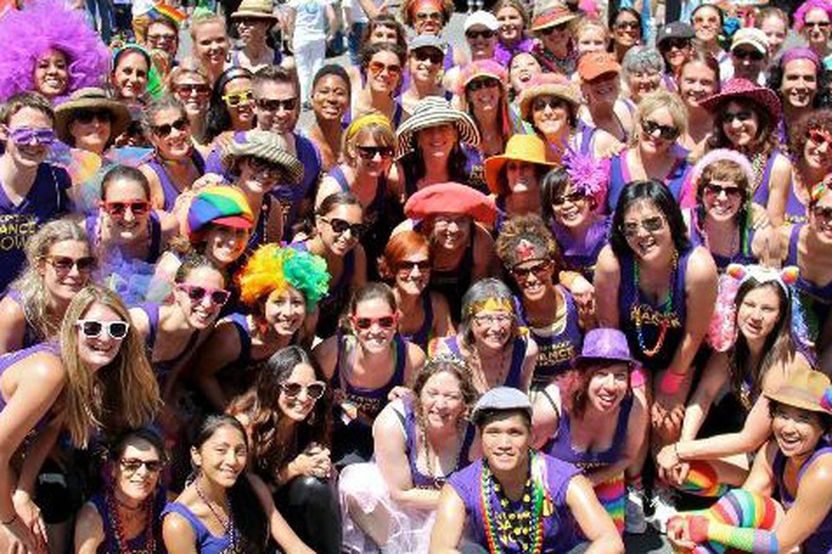 Rhythm and Motion dancers before Pride 2013
