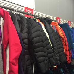 There's a large selection of women's down jackets for winter