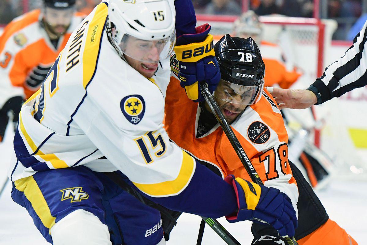 NHL: Nashville Predators at Philadelphia Flyers