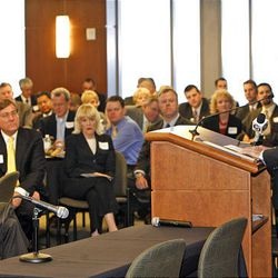 Washington Post writer David Broder delivers keynote at Exoro Group's 1st Annual Policy Summit Friday.