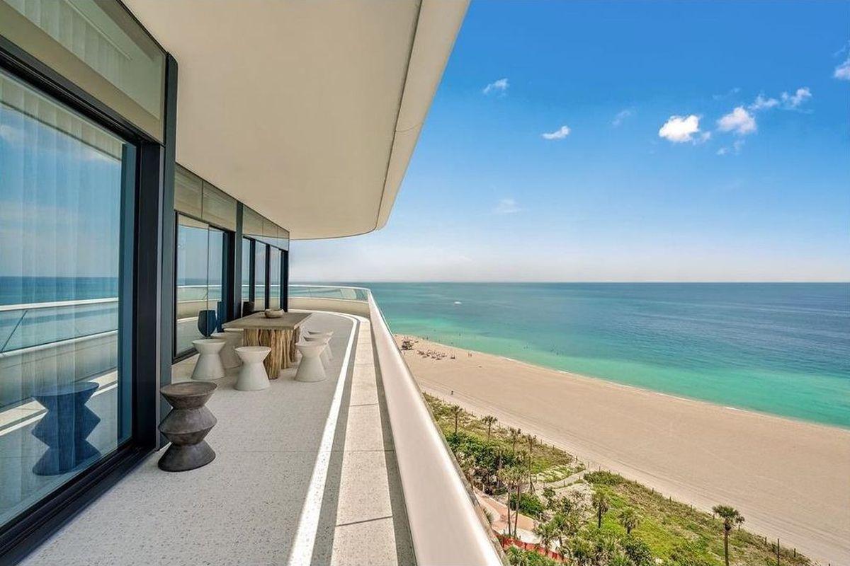 A beachfront view at a barnad new miami beach condo at faena house