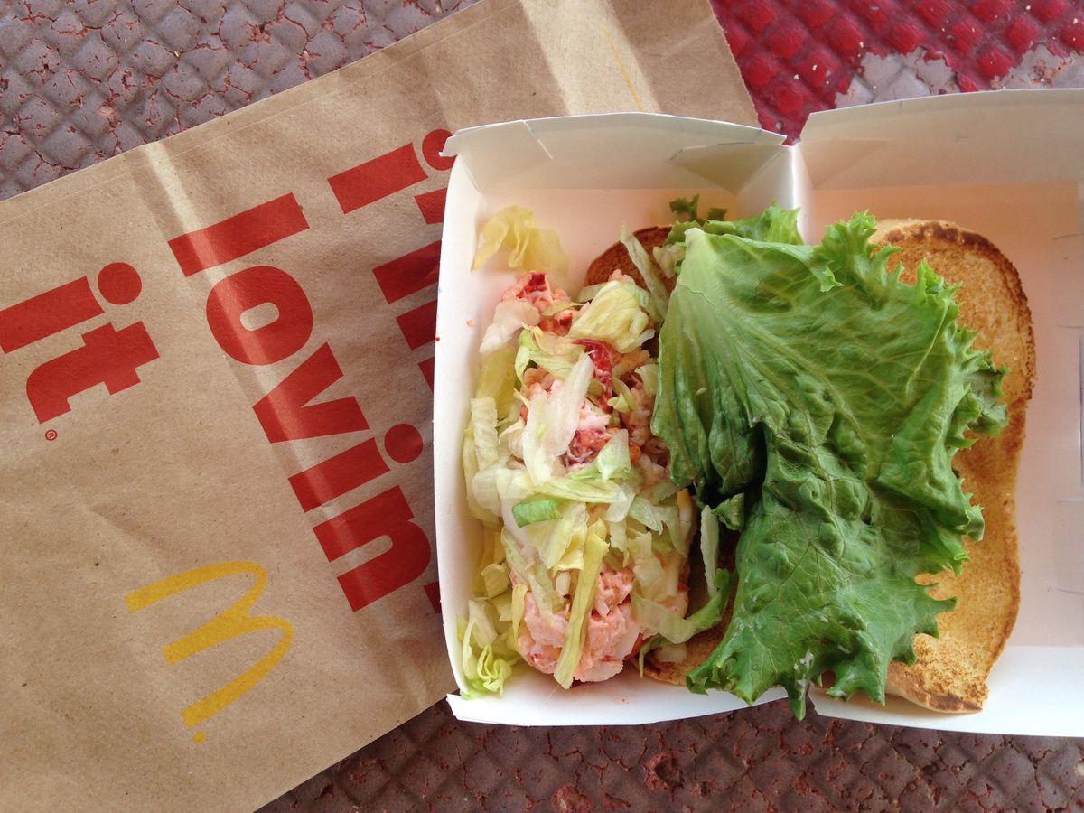 McDonald's attempt at a lobster roll