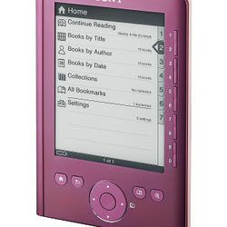 In this product image provided by Sony, a Sony Reader Pocket Edition is shown.