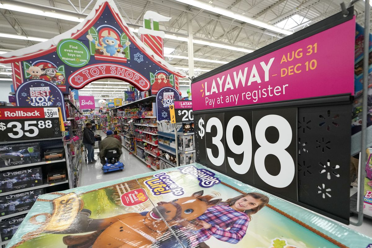 In this Friday, Nov. 9, 2018, photo toys are displayed at a Walmart Supercenter in Houston. The world's largest retailer delivered strong third-quarter results Thursday, Nov. 15, extending a streak of sales growth into its 11th straight quarter that showed it's pulling shoppers online and in the store. It also raised profit expectations for the year heading into the holiday shopping season. (AP Photo/David J. Phillip)