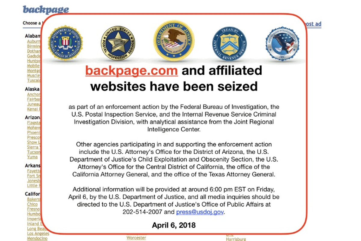 Federal Authorities Have Charged The Two Founders Of Classified Site Backpage Com Along With Five Other Employees With Laundering Money And Facilitating