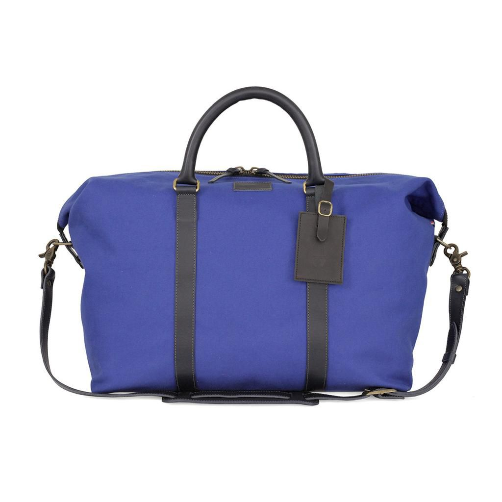 A royal blue canvas tote designed by Mike D of the Beastie Boys.