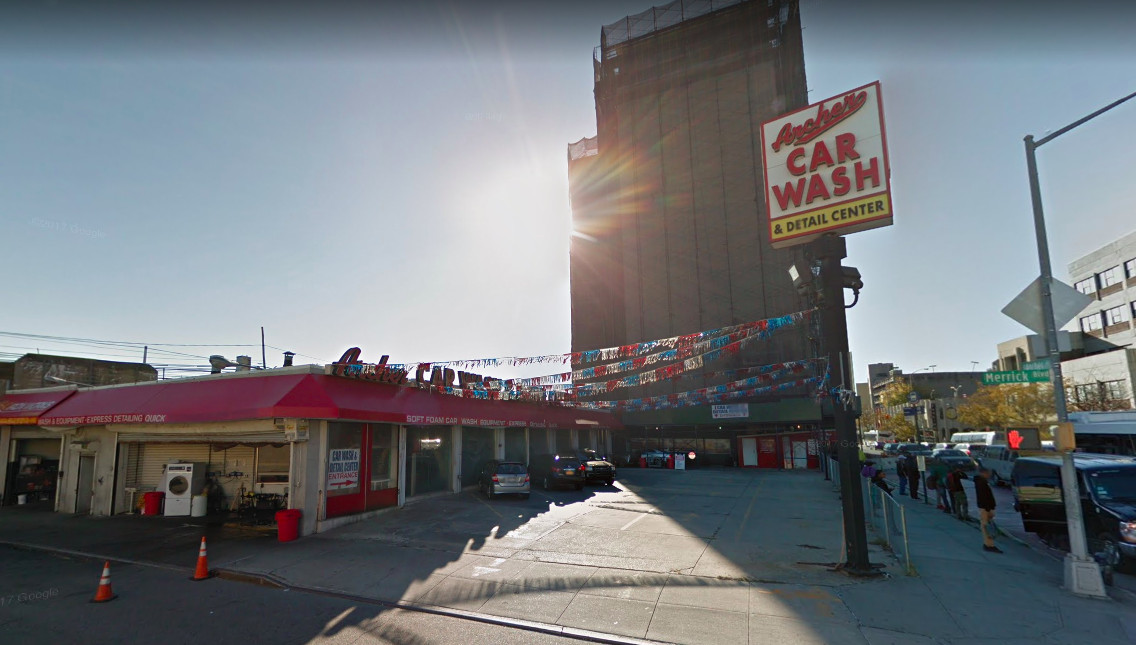 A car wash and lot in Jamaica, Queens.