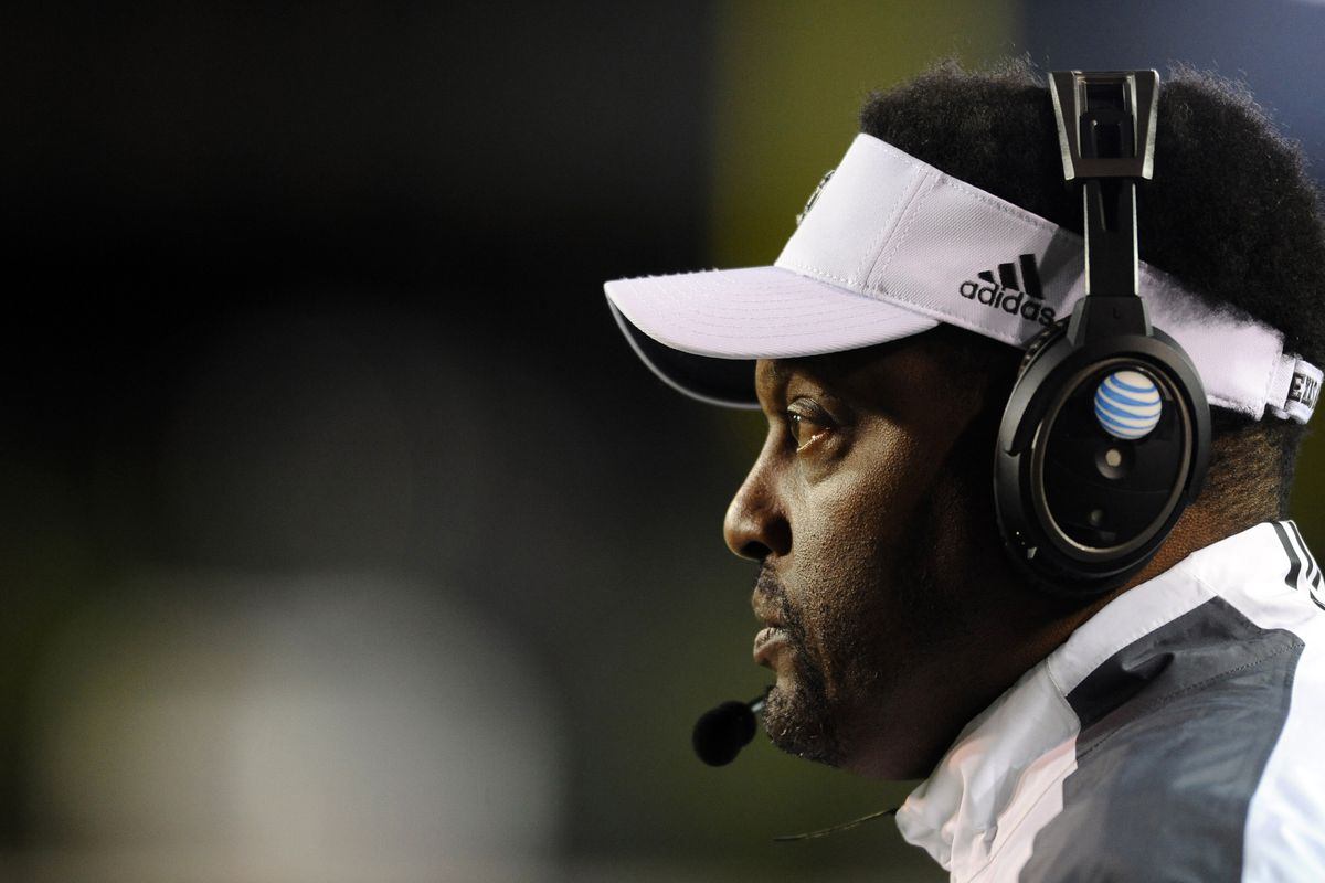 Kevin Sumlin ponders his mortality, or perhaps just tries to remember his Twitter password.