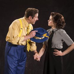 """Brian Vaughn, left, as Sky Masterson and Alexandra Zorn as Sarah Brown star in the Utah Shakespeare Festival's 2017 production of """"Guys and Dolls."""""""