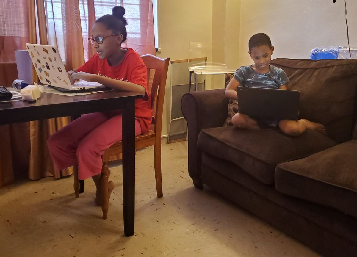 Magdalena Garcia struggled to keep up with the schoolwork of her two children.