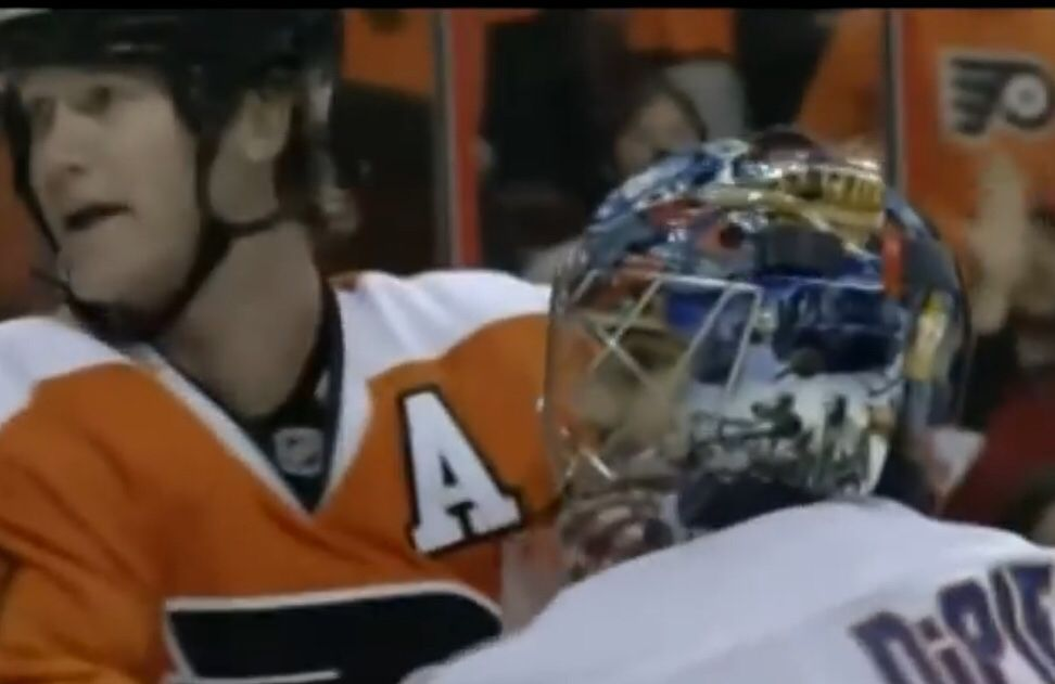 Pronger laughs in DiPietro s face - Broad Street Hockey b6f58110a