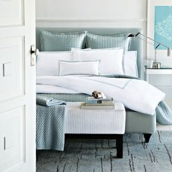 Hudson Park Italian Percale Bedding in Seaglass, $85 & Up