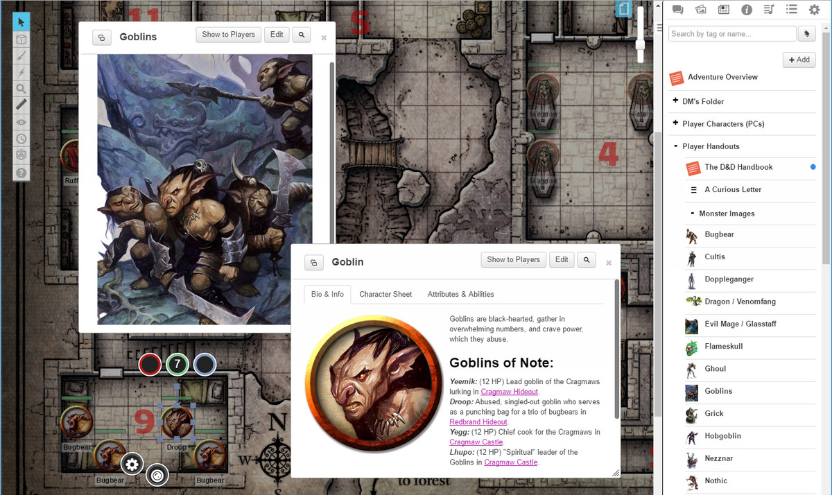 D&D on your tablet and in your browser, complete with dice
