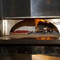 Pizza ovens at Trattoria del Lupo.