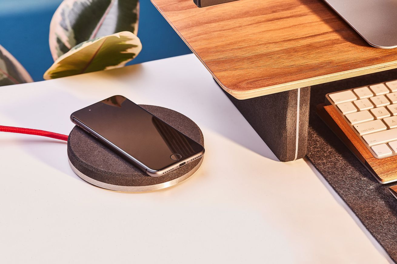 The Grovemade wireless charger imagines a world where charging pucks look good