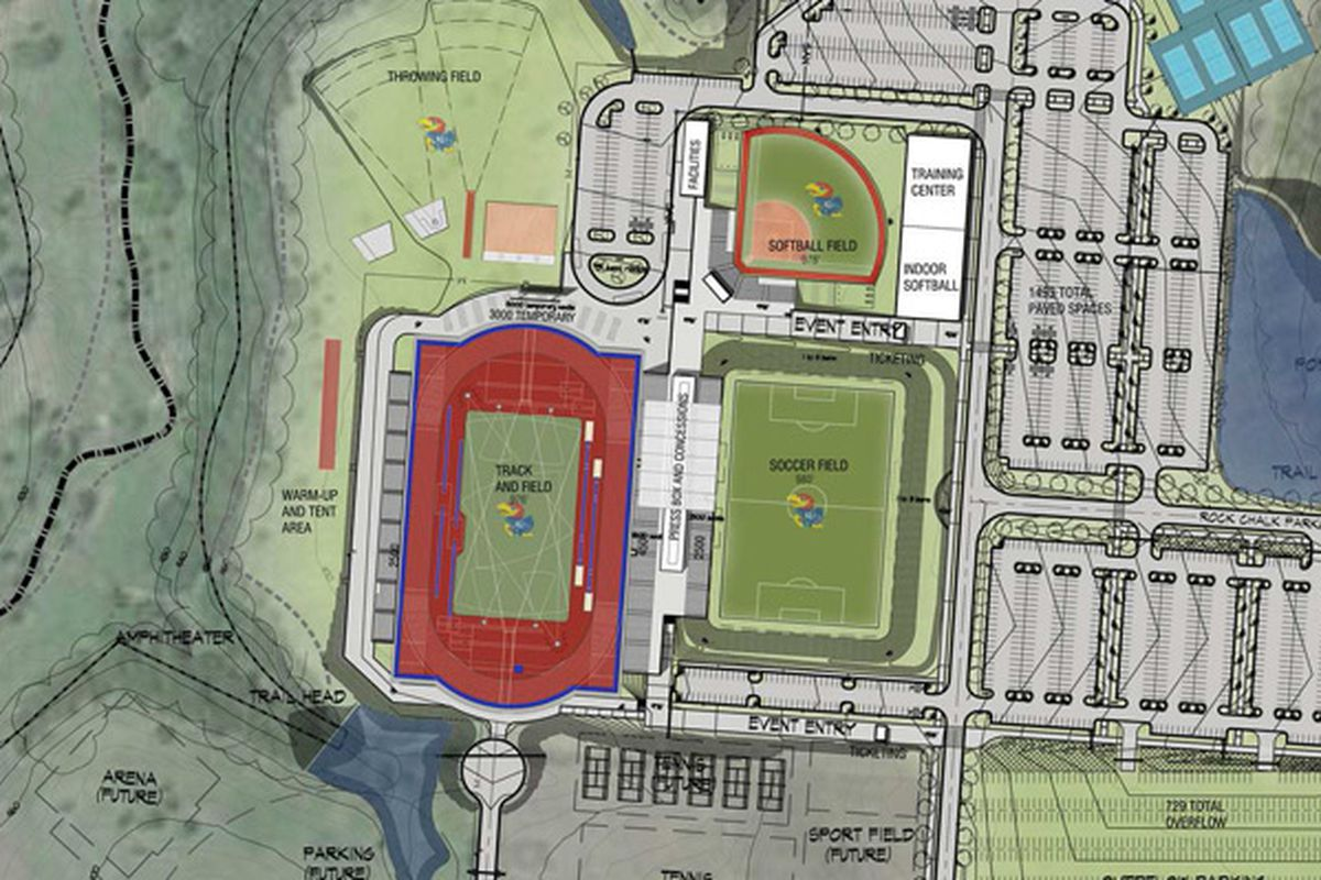 construction on kansas track softball and soccer facilities set to