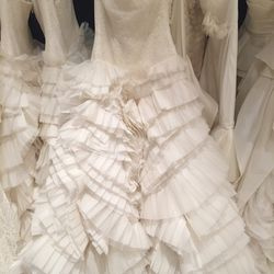 Lace and tuille gown, $2,700