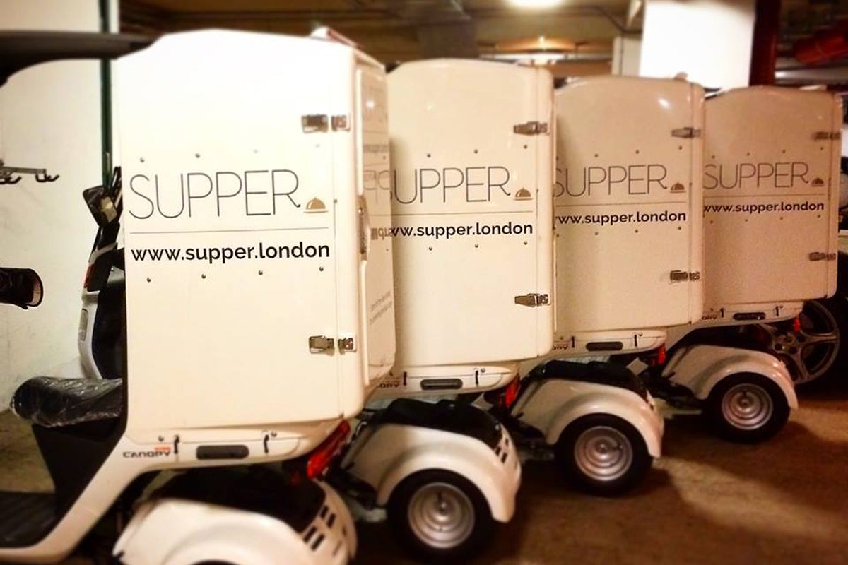 Part of Supper's delivery fleet.