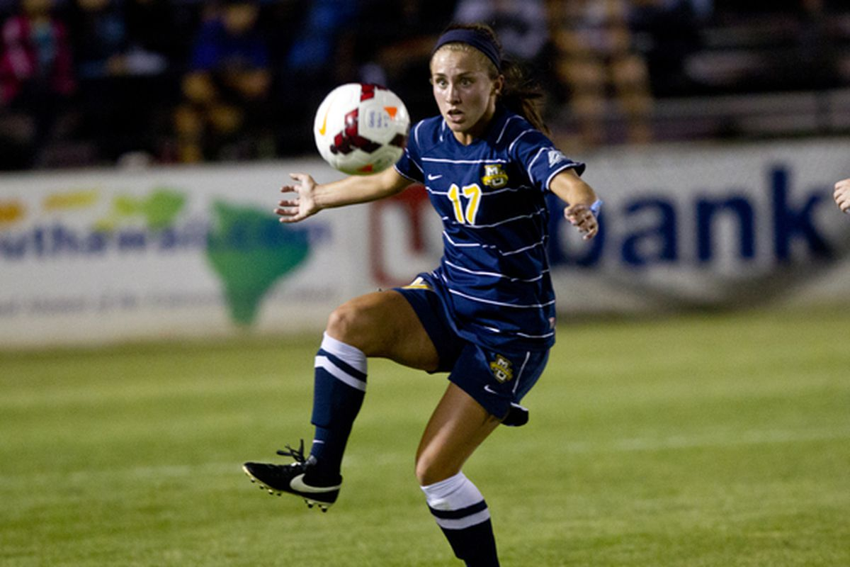 Liz Bartels deftly netted the equalizer while Marquette was playing with 10 women on Sunday.