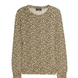 """<a href=""""http://www.net-a-porter.com/product/321046"""">Knitted leopard-print top and <b>A.P.C.</b>,</a> $72 (was $120)"""