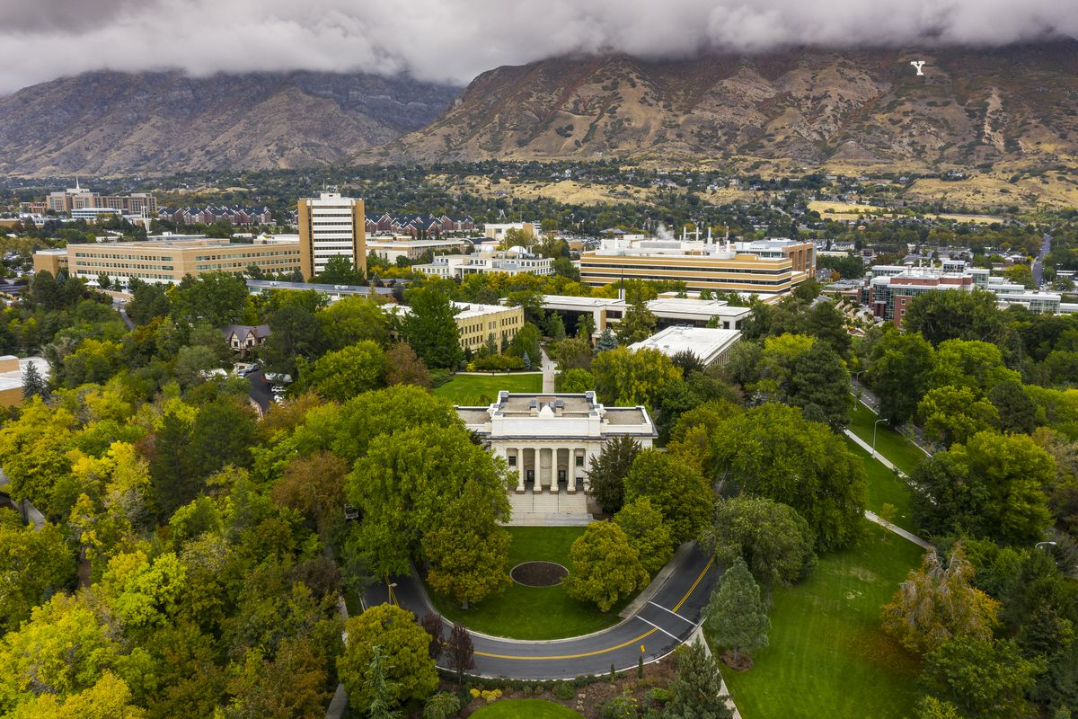 An image of the Karl G. Maeser Building on the Brigham Young University campus. BYU announced its 2021 annual faculty awards.