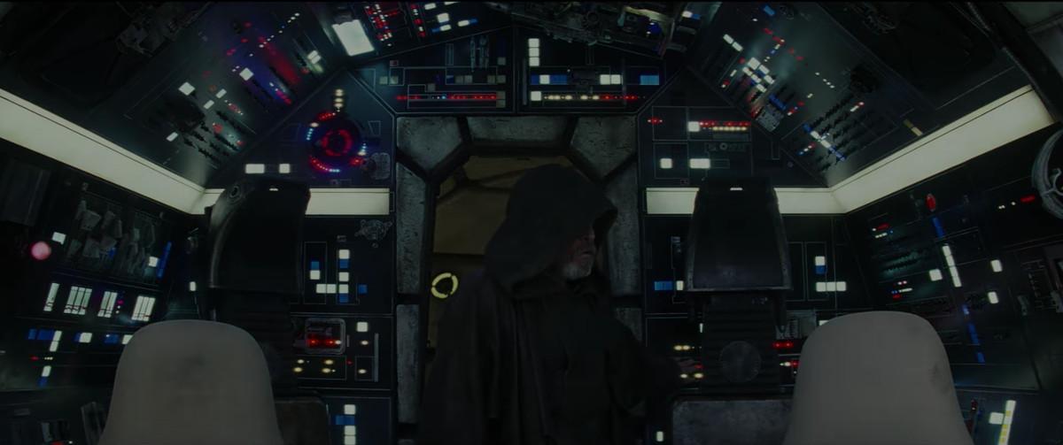 Luke looks to his left