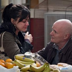 """Hayley Squires as Katie and Dave Johns as Dan in Ken Loach's """"I, Daniel Blake."""""""