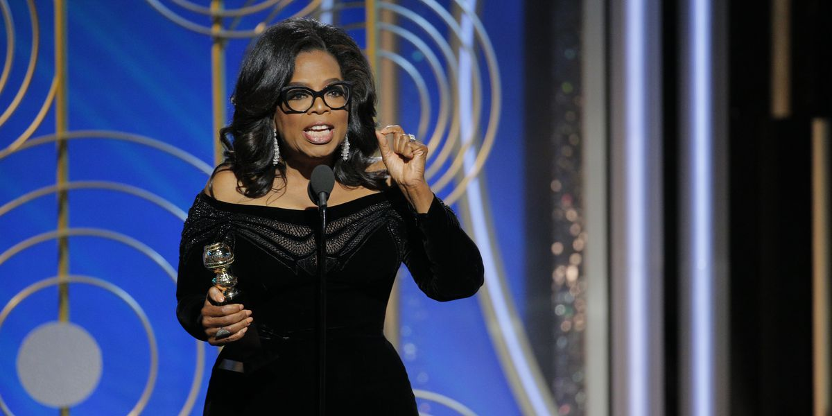 "Oprah Winfrey at the Golden Globes: ""[Terrible men's] time is up"" - Vox"