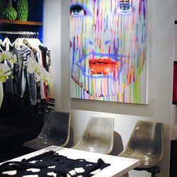 The pop-up shop of social shopping app, Trendabl, in New York's Paramount Hotel.