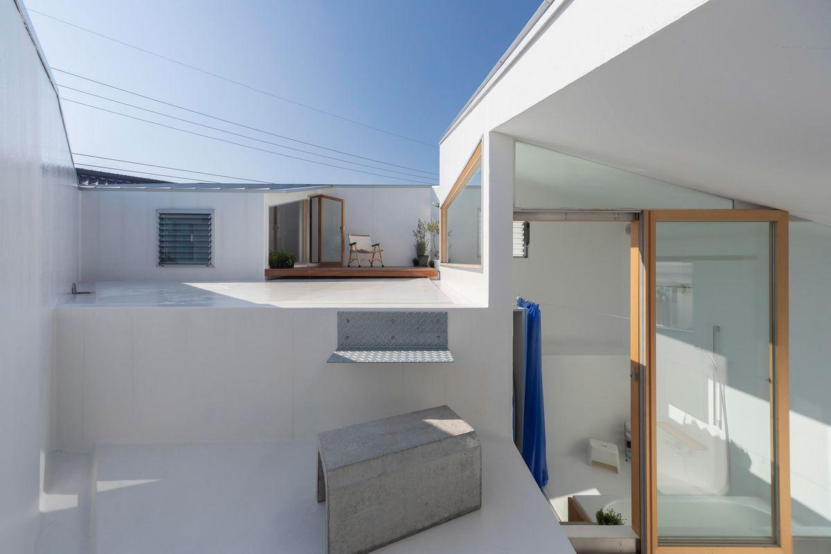 Outdoor rooftop terrace