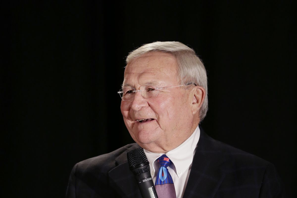 L. Brook Patterson smiles during a Republican rally in Troy, Michigan