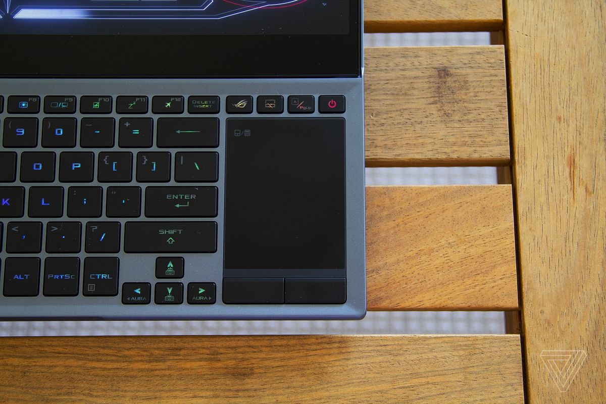 The Asus ROG Zephyrus Duo 15 touchpad.