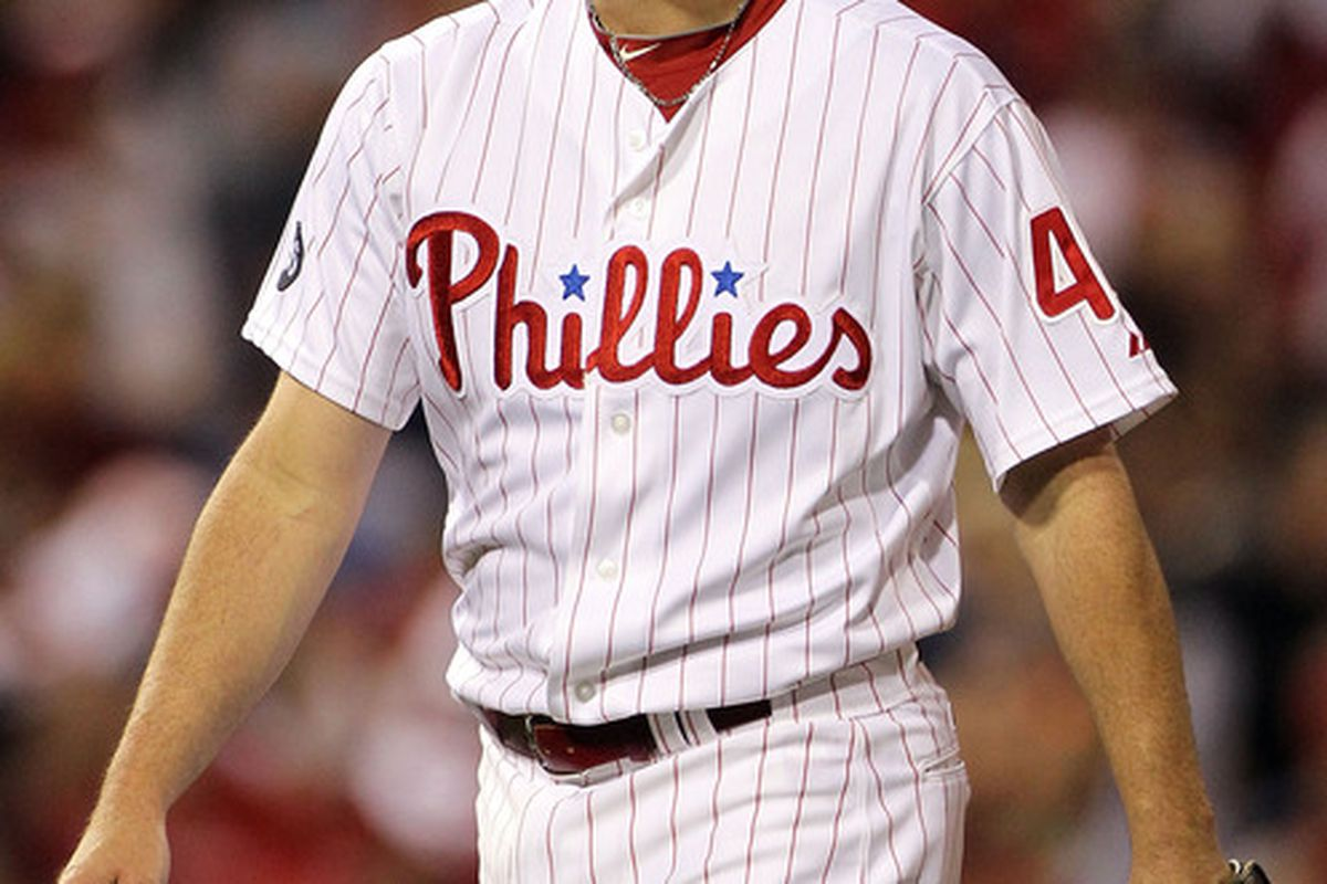 Roy Oswalt last pitched for the Philadelphia Phillies in 2011.  (Photo by Doug Pensinger/Getty Images)