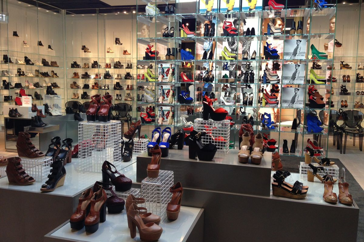 The shoe salon at Topshop at The Grove.
