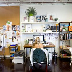 """<a href=""""http://la.racked.com/archives/2014/10/03/a_trip_to_the_design_offices_of_socal_favorite_stone_cold_fox.php""""><b>Stone Cold Fox</b></a>'s capsule of curiosities."""
