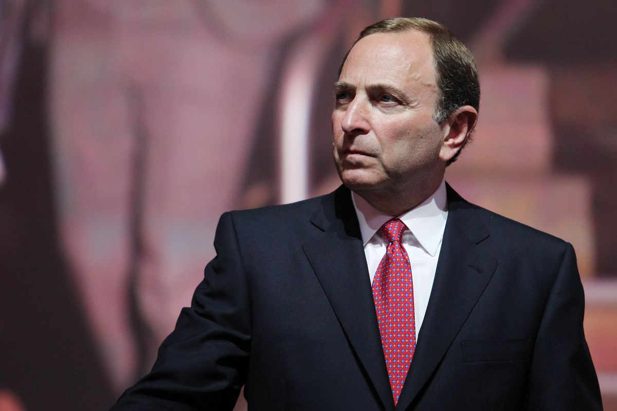 Gary Bettman hears movement.  It's not from the Oilers' table.