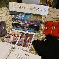 """New York-based designer <a href=""""https://www.maggyfrances.com"""">Maggy Frances</a> brought in Beatles posters and patterned dresses and pants for Thread."""
