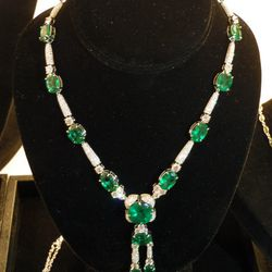 Here's that aforementioned <b>Takat</b> necklace, clocking in at 71.73 carats of emeralds, 8.34 carats of round white diamonds and 10.43 carats of fancy white diamonds. It can be yours for $498,014.