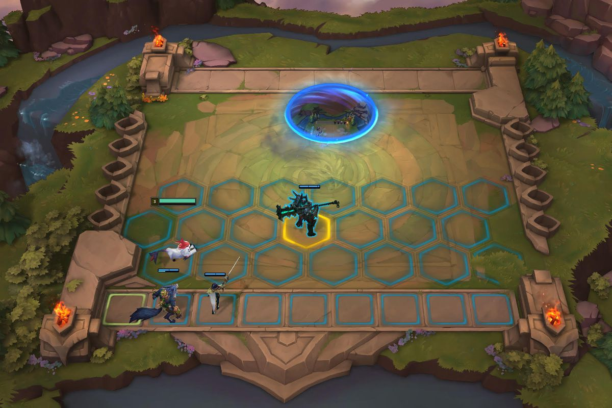 Players put Garen on the board in Teamfight Tactics, the League of Legends auto chess