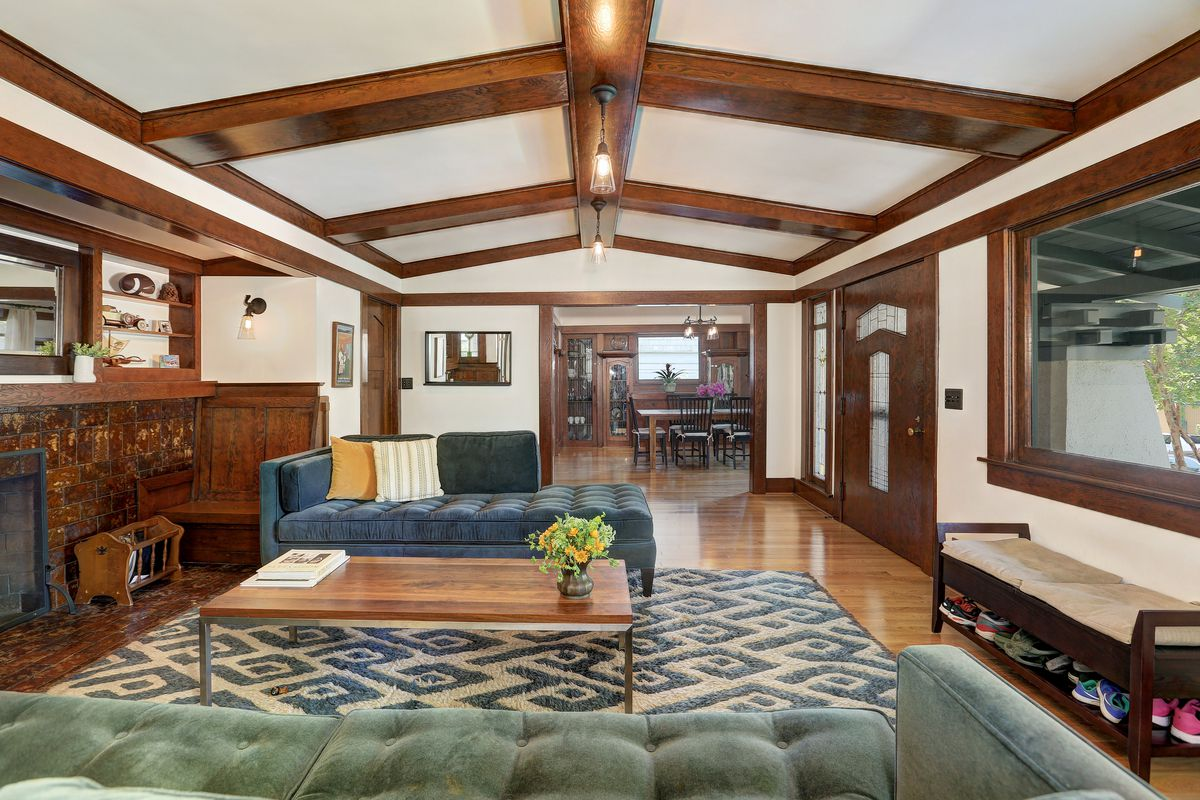 1918 larchmont craftsman with sun room tiled fireplace asks 1 7m