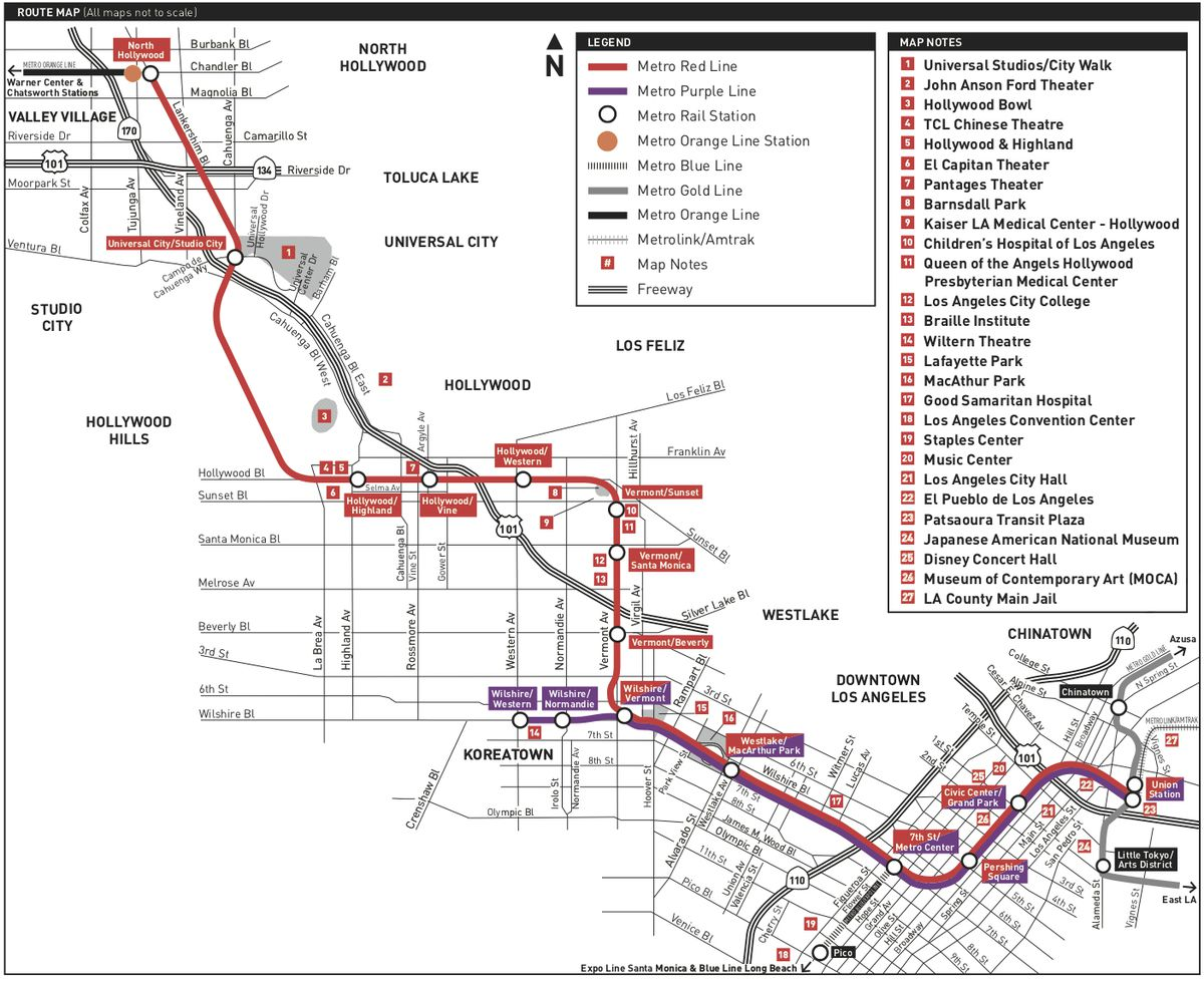 A Guide To La S B Line Subway Through Hollywood Curbed La