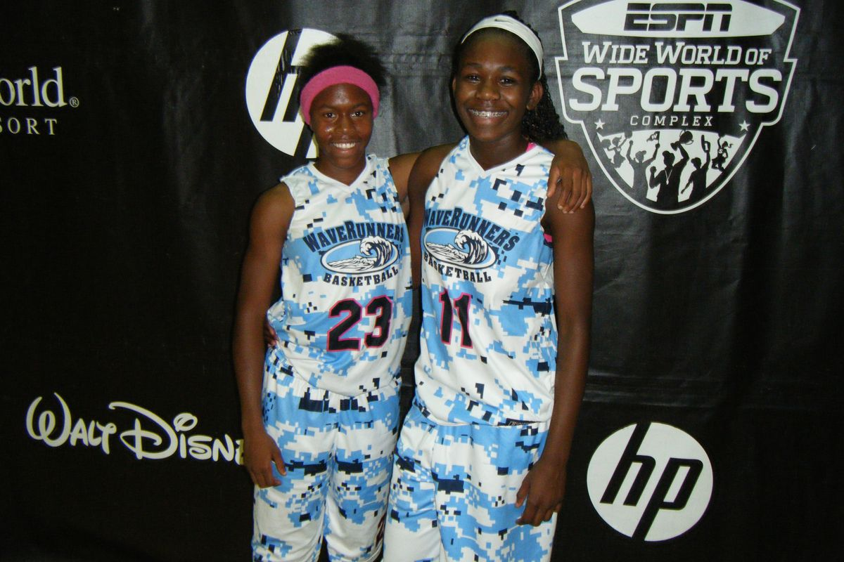 Ra'Shara Simmons (left) and Kiera Brown (right) of Waverunners