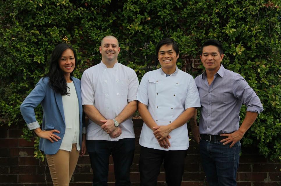 Left to right: Anita Hsu, chef Aaron Phillips, chef Ronald Hsu, Howard Hsu
