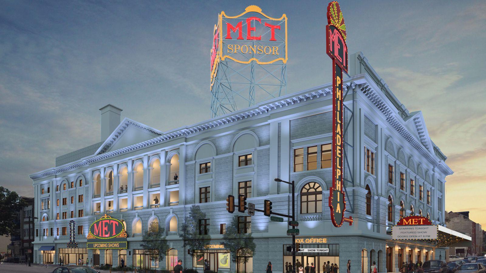 Philadelphia metropolitan opera house renovation plans for Renovation drawings